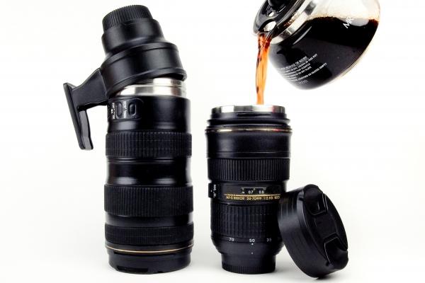 Thermos en forme d'objectif Nikon