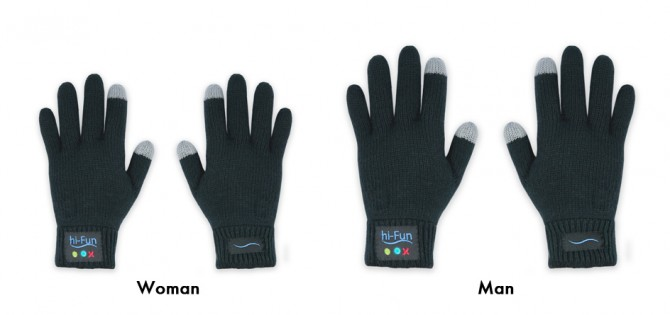 Gants en laine bluetooth