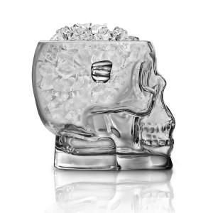 Brainfreeze Glass Skull Ice Bucket de profil