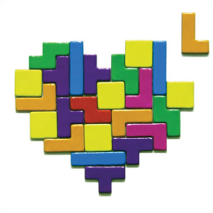 Magnet Tetris en forme de coeur