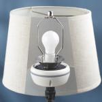 Enceinte invisible en forme de lampe