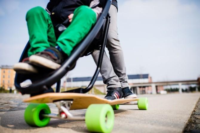 La poussette longboard