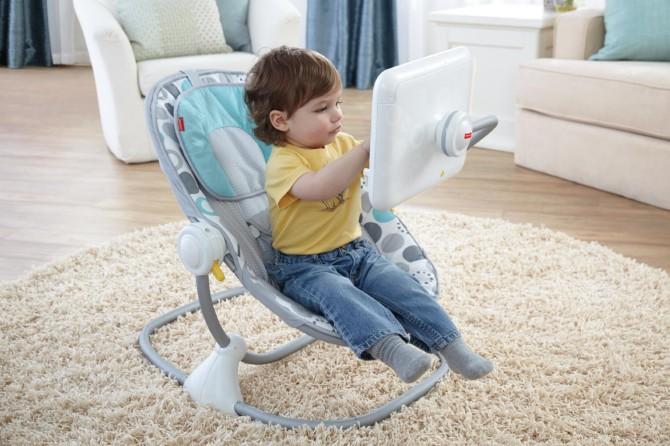 Siège pour bébé avec support iPad